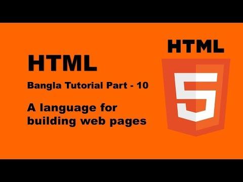 HTML & HTML5 Table Tutorial Bangla 10