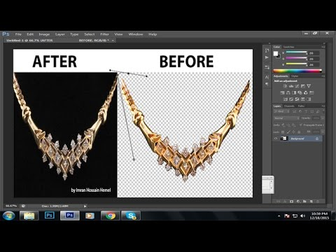 How to create path or product image editing - Photoshop Tutorial