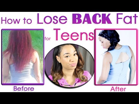 How to Lose Back Fat for Teenagers