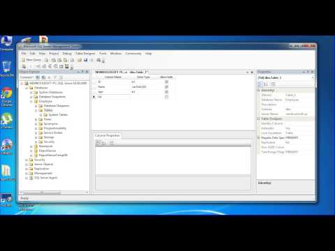 SQL SERVER CREATE TABLE AND COLUMN