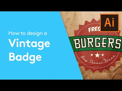 Flat Design Tutorials: How To Make A Vintage Badge With Adobe Illustrator | Solopress