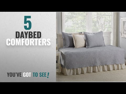 Top 10 Daybed Comforters  [2018]: Stone Cottage 5-Piece Daybed Cover Set, Trellis Gray