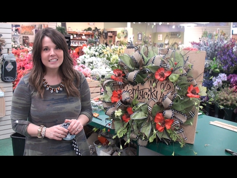 Making a Cut Mesh Wreath for Spring 2017 - with Anna