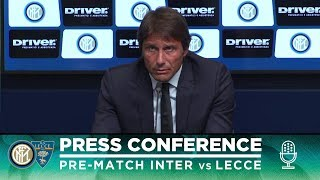 INTER vs LECCE | Antonio Conte Pre-Match Press Conference LIVE 🎙⚫🔵