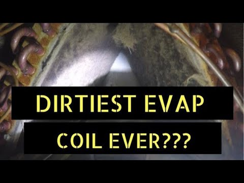 Dirtiest Evap Coil Ever!! Cleaning a Dirty Evaporator Coil