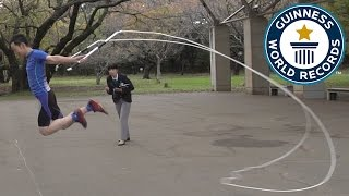 Japanese skipping pro attempts jump rope records - Guinness World Records