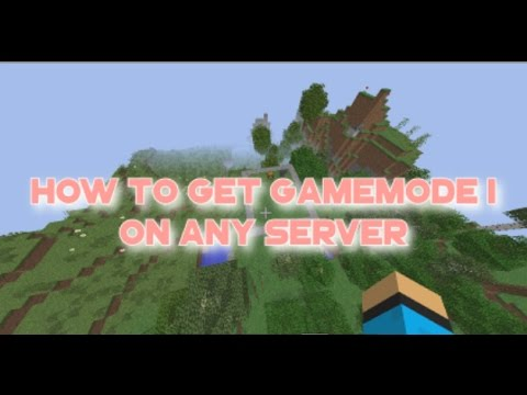 MINECRAFT - HOW TO GET GAMEMODE 1 IN ANY SERVER! WORKING GLITCH [1.7 1.8 1.9 1.1] 2016 AWESOME!