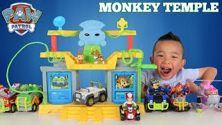 Paw Patrol MONKEY TEMPLE  Jungle Rescue Playset Unboxing Fun With Ckn Toys