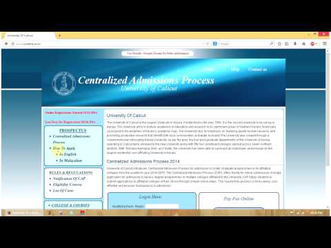 How to Apply UG Degree Online in Calicut University