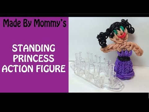 Rainbow Loom Monster Tail Charm - Standing Princess Action Figure Doll