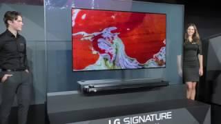 LG W7 (Wallpaper) 4K OLED mit Dolby Atmos Soundbar (CES 2017)