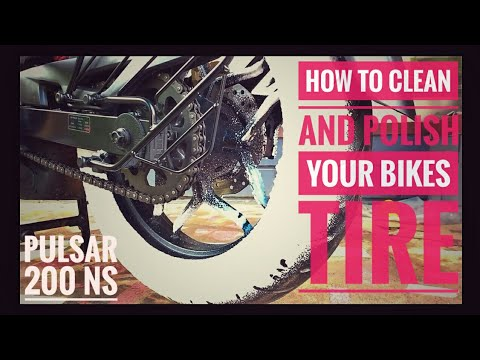 HOW TO CLEAN & POLISH YOUR BIKE TIRES IN 2 MINUTES