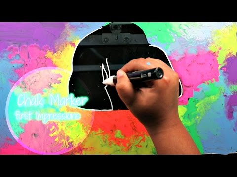 DRAWING ON GLASS?? ChalkOla Chalk Markers First Impressions!