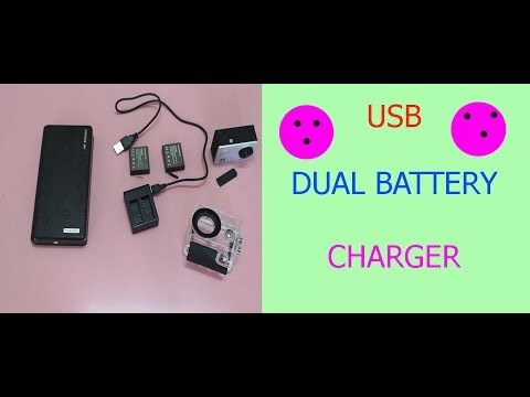 USB Dual Battery Charger For EKEN H9R Action Camera