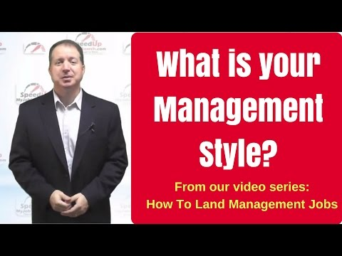 Interview Question: What is your Management Style? From our How To Land Management Jobs series