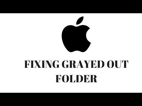Fix grayed out folder on Mac