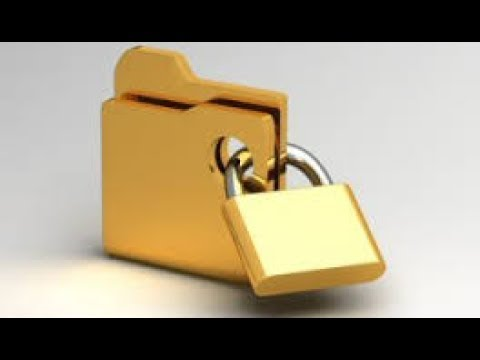 How to lock folder in pc with password