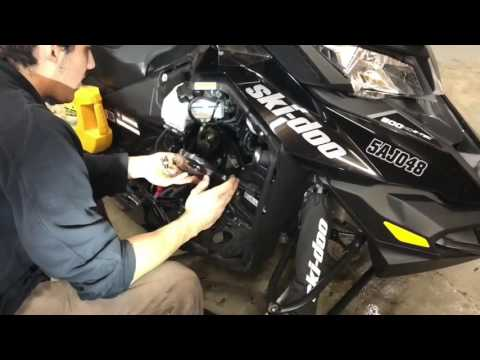 How to change your chain case oil in a 600-800 etec skidoo