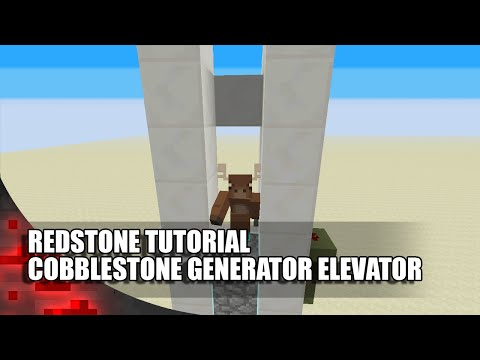 Minecraft: Cobblestone Generator Elevator