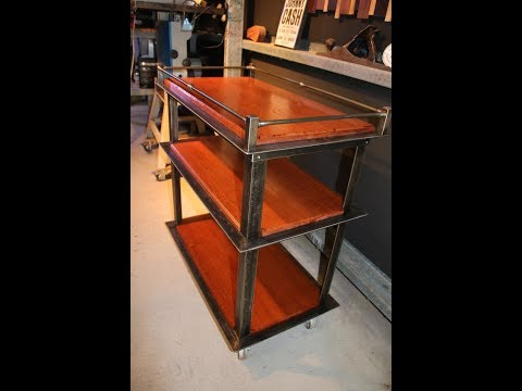 Drinks Trolley Bar Cart Industrial Style - Forme Industrious