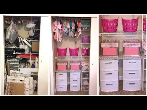 NURSERY CLOSET CLEAN UP AND ORGANIZATION BEFORE & AFTER