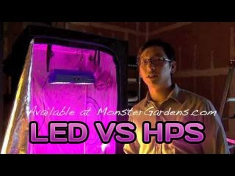 LED Grow Light Testing GrowLight Versus a 400 & 600 Watt HPS LED Grow Lights Lamps LED Garden