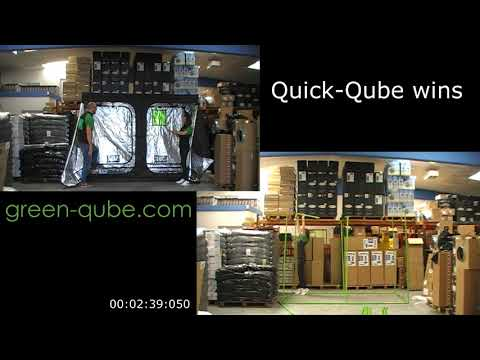 The Battle of the Grow Tents: the Quick-Qube Pop Up Grow Tent vs the Green Qube