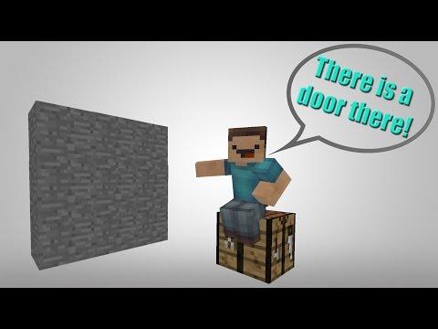Minecraft - Ultimate Hidden Door Using Ghost Blocks!