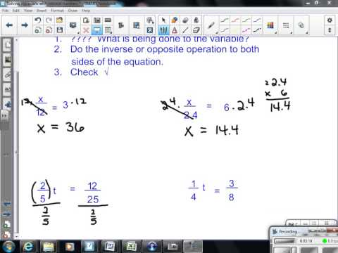 Solve equations involving rational numbers 7th Gr