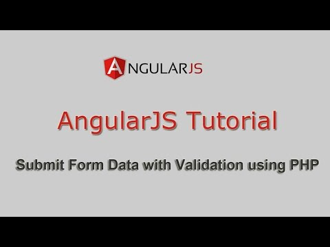 Submit Form Data using AngularJS with Validation using PHP