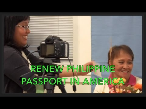 RENEW PHILIPPINE PASSPORT IN AMERICA
