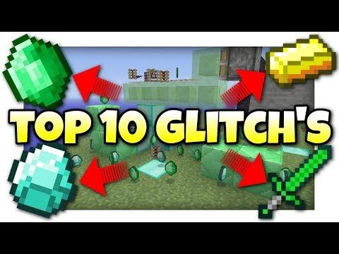 Minecraft - TOP 10 GLITCH'S - Tutorial - Xbox One / PS4 / Xbox / PS3 / Switch