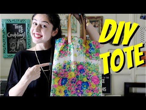DIY Tote Bag    No Sew!!!
