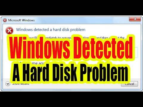Windows detected a hard disk problem. Hide Permanently