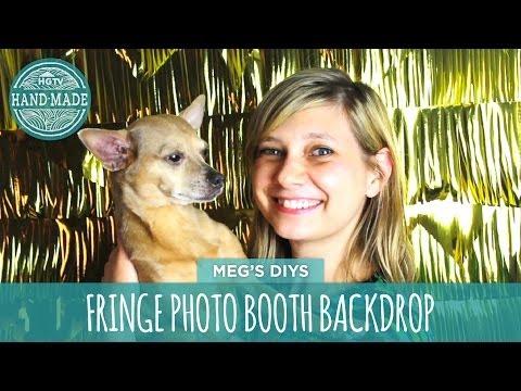 DIY Photo Booth Backdrop- HGTV Handmade