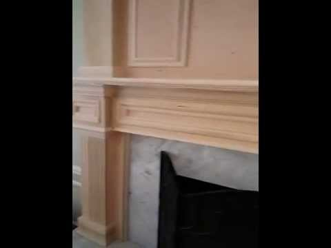 Custom Poplar Mantle Fluted Columns Crown Molding