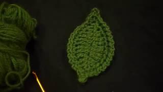 #x202b;كروشيه ورقة شجرطبيعية بطريقة جديدة  Crochet Leaf#x202c;lrm;