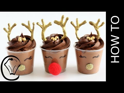 Rudolph Christmas Chocolate Mousse Dessert Cups by Cupcake Savvy's Kitchen