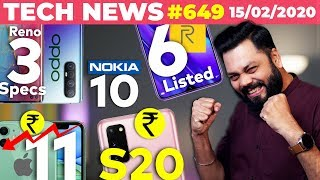 Realme 6 Listed😲,OPPO Reno 3 Full Specs,Nokia 10,iPhone 11 Price ⬇️,Galaxy S20 Indian Price-TTN#649