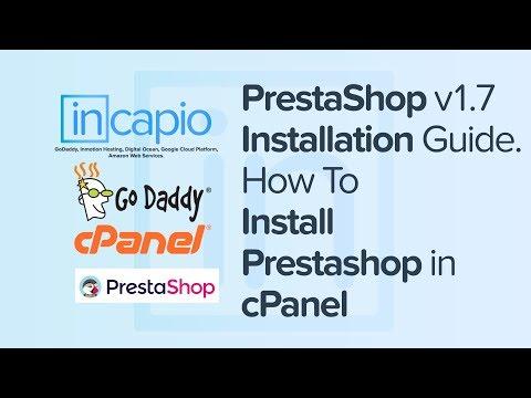 PrestaShop v1.7.2.4 Installation Guide | How to Install Prestashop in cPanel | GoDaddy | 2018