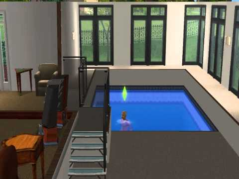 the sim using invisible diving board and ladder