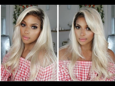 Summer's here! Shoulder out! Customizing this Gorgeous Ombre Blonde Stunner from WowAfrican!