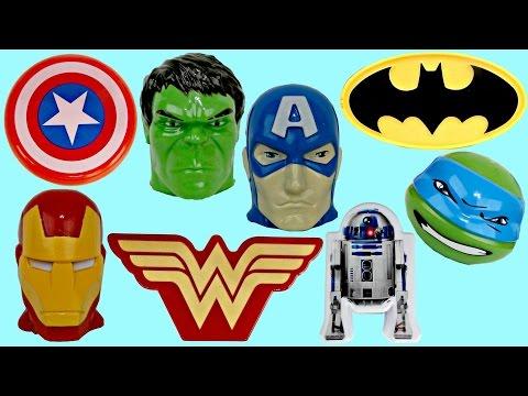 Lots of SUPERHERO Treat Container Superheroes