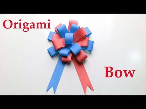 How To Make An Origami Bow - Diy Easy Paper Bow - Paper Crafts