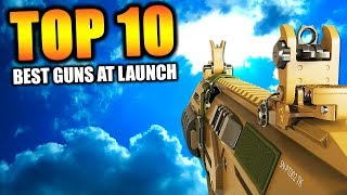 """Top 10 """"BEST GUNS at LAUNCH"""" in COD HISTORY (Call of Duty)"""