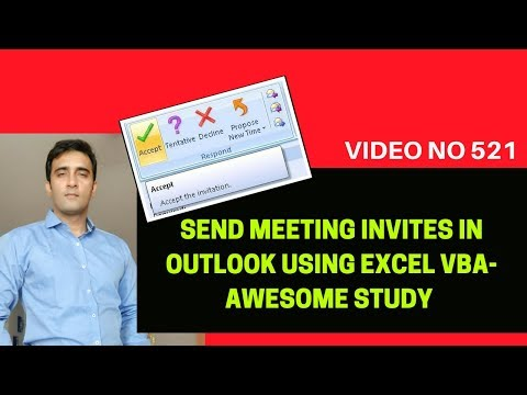 Learn Excel - Video 521 - VBA - Send Meeting invites in outlook Using VBA
