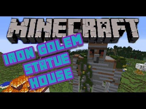 Minecraft IRON GOLEM HOUSE Statue / Scale Model / Let's Build
