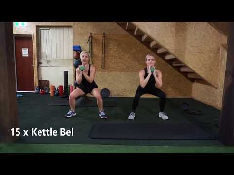 Strengthening and toning kettlebell workout