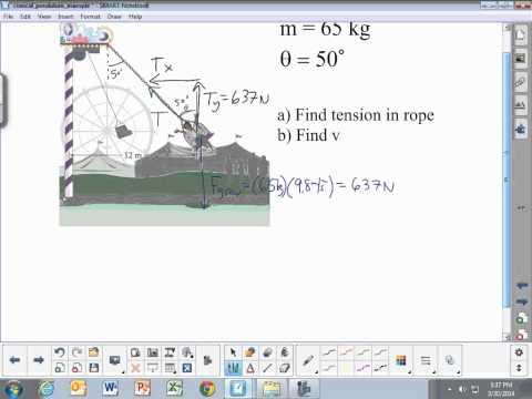 Circular Motion: Conical Pendulum Example Problem