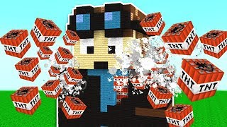BLOWING UP FAMOUS MINECRAFT YOUTUBERS!